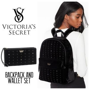 VICTORIA SECRET Velvet Backpack And Wallet $112